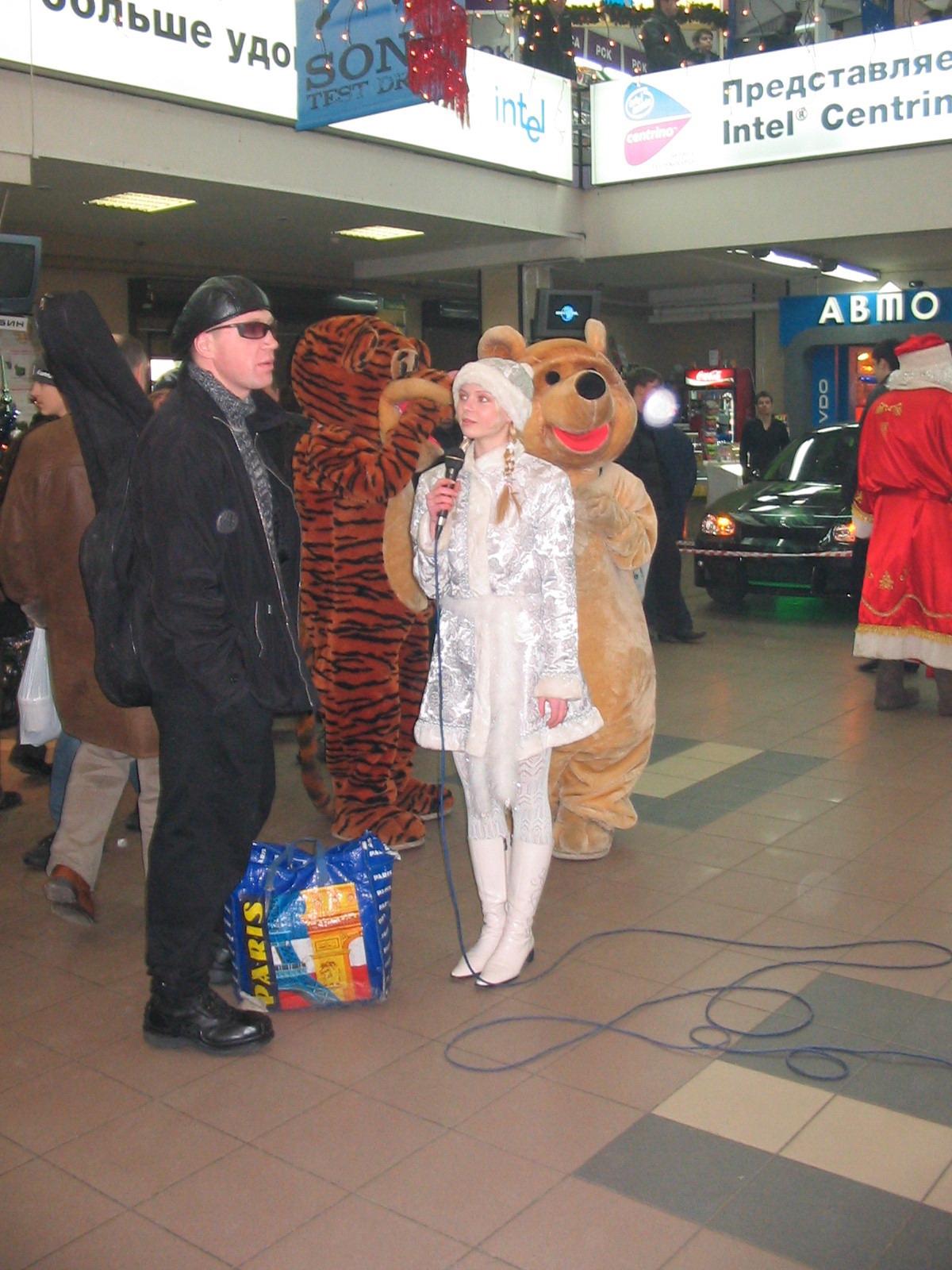 Дед Мороз в торговом центре
